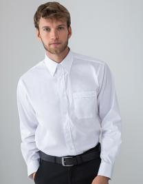 Men`s Long Sleeved Pinpoint Oxford Shirt